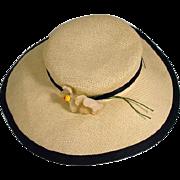 Vintage Madame Alexander Cissy Size White Hat, 1950's