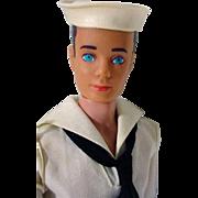Vintage Mattel Ken Doll in Sailer Uniform, 1963