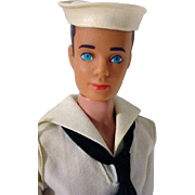 Vintage Mattel Ken Doll in Sailer Uniform, 1963