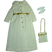 Mattel Vintage Skipper Outfit, White Bright & Sparkling, 1972