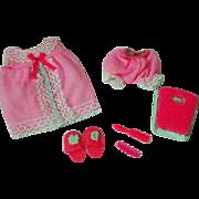Vintage Mattel Skipper Outfit, Baby Dolls, 1968