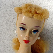 Mattel #3 Blond Ponytail Barbie Doll, All Original, 1960