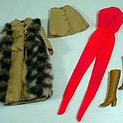 Vintage Mattel Barbie Outfit, Suede 'n Fur, 1972