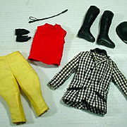 Vintage Mattel Skipper Outfit, Learning To Ride, Complete, 1966