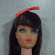 Vintage Mattel TNT Barbie w/ Dark Brunette Hair, 1967