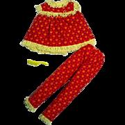 Vintage Mattel Skipper Outfit, Wooly P.J.'s 1965