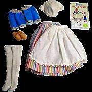 Vintage Mattel Barbie Outfit, Barbie In Holland, 1964