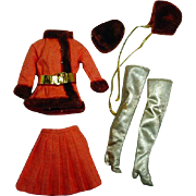 VIntage Barbie Outfit, Winter Wow, 1969, Mattel