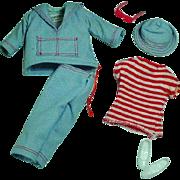Vintage Mattel Skipper Outfit, Land & Sea, 1966