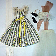 Vintage Madame Alexander Cissy Size Day Dress with Accessories, 1950's