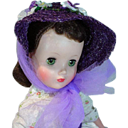 Vintage Madame Alexander Elise Doll in Day Dress with Hat, 1950's