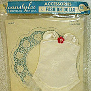 "Vintage NRFP Corset for 18"" Fashion Doll, 1950's"