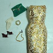 Vintage Mattel Barbie Outfit, Golden Girl, 1960