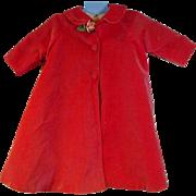 Vintage Madame Alexander Pink Velvet Cissy Coat, 1950's