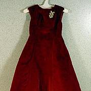 Vintage Madame Alexander Cissy Velvet Dress, 1950's