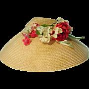 Beautiful Vintage Madame Alexander Cissy Hat, 1950's