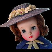 Vintage Madame Alexander Elise Doll in Original Ensemble, 1950's