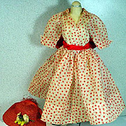 Vintage Madame Alexander Cissy Day Dress and Hat, 1956