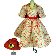 Vintage Madame Alexander Cissy Day Dress and Hat, 1956