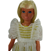 Vintage Mattel Malibu Skipper Doll in Flower Girl, 1974