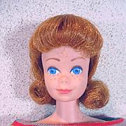 Mattel 1963 Titian Midge Doll in Knit Pak Dress