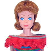 Mattel 1963 Titian Midge Doll in Knit Pak Dress