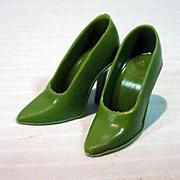 Vintage Barbie Olive Green Spike High Heels, Mattel, 1960's