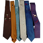 Collection of Vintage Men's Ties