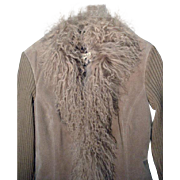 Vintage Suede and Lamb Ladies Jacket