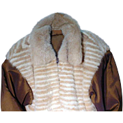 One Of A Kind!, Custom Designed, Reversible, Ladies, Mink and  Waterproof Nylon  Apre` Jacket