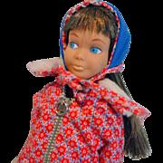 Vintage Mattel Brunette Skipper in Sledding Fun, 1965-66