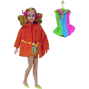 Mattel Dramatic New Living Skipper Very Best Velvet Set, 1970