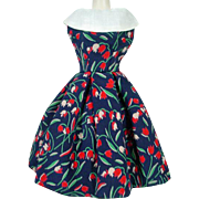 Rare Bild Lilli Flowered Dress, 1950's, Germany