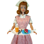 Vintage Titian Midge in Candy Striper Volunteer, Mattel 1964