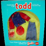 NRFB Mattel European Todd Outfit, 1975
