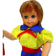 European Mattel Tutti Doll in Kindergarten Outfit, 1977