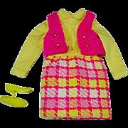 Vintage Mattel Francie Outfit Vested Interest, 1969