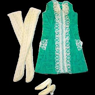 Vintage Mattel Francie Outfit, Iced Blue, 1967