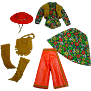 Vintage Mattel Barbie Outfit, Gaucho Gear, 1971