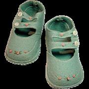 Vintage Child's/Doll Felt Shoes, 1960's
