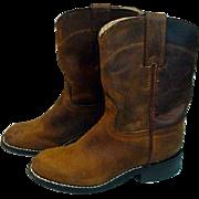 Vintage Child's Justine Cowboy Boots, 1970's