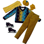 Vintage Mattel Ken Outfit, Fun On Ice, 1963