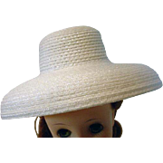 Vintage Madame Alexander Elise Size White Straw Hat