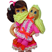 Mattel 1970 Angie 'N Tangie Pretty Pairs Dolls