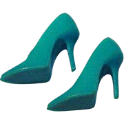 "Mattel Vintage Barbie Turquoise ""Japan"" Spikes, 1965"