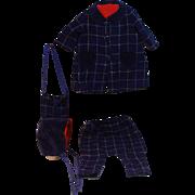 Wool Plaid, Coat and Riding Pant Ensamble , Circa 1940's