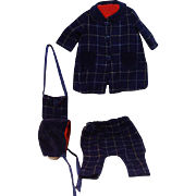 Wool Plaid, Coat and Riding Pant Ensamble , Circa 1940's