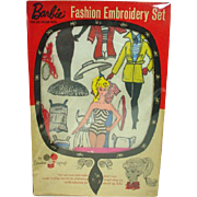 Mattel Barbie Fashion Embrodidery Set w/ Box, 1962