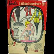 Mattel Barbie Fashion Embrodidery Set w/ Box, 1962