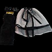 Vintage Mattel Barbie Outfit, Black Magic Ensemble, 1964